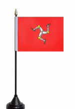 Isle Of Man Table Flag